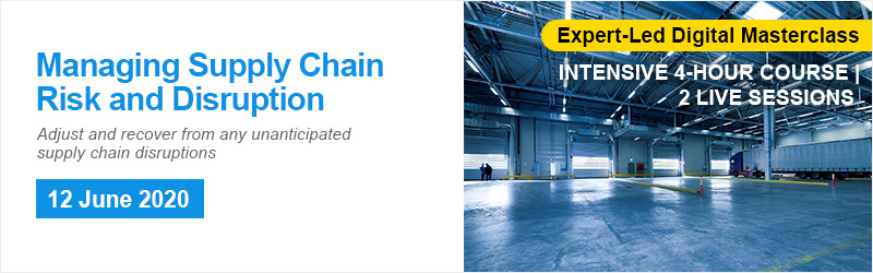 Managing Supply Chain Risk and Disruption Online